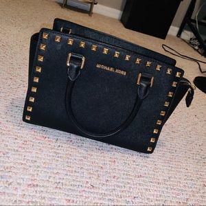 Michael Kors medium black/gold crossbody bag